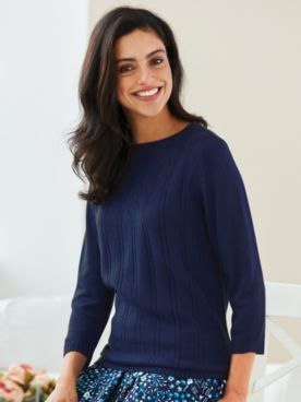 Elisabeth Williams® Pointelle Sweater