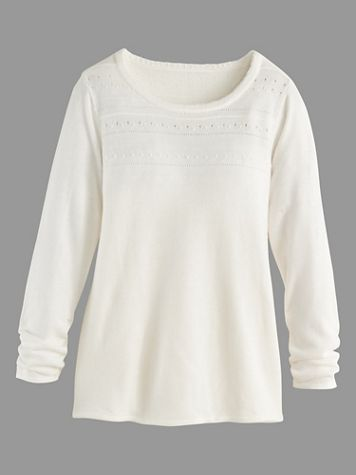 Crew Neck Jacquard Sweater - Image 2 of 2