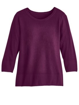 Elisabeth Williams® Three-Quarter Sleeve Sweater