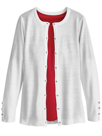 Cashmere-Like Cardigan Sweater - Image 1 of 3