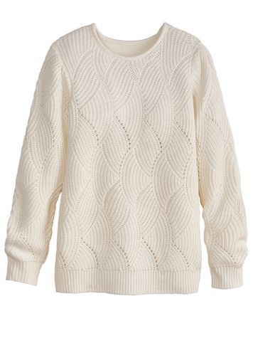 Scallop Pointelle Sweater - Image 1 of 3