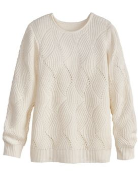 Scallop Pointelle Sweater
