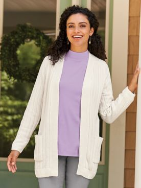 Chenille Open Front Cardigan Sweater