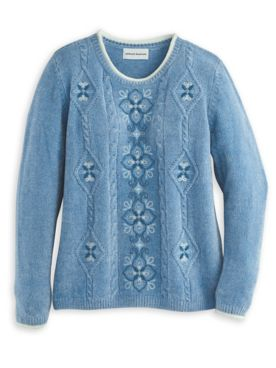 Alfred Dunner® Medallion Embroidered Sweater