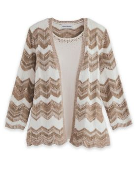 Alfred Dunner® Pointelle 2-For-1 Sweater