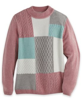 Alfred Dunner® Chenille Colorblock Sweater
