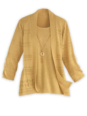Alfred Dunner® Two-In-One Sweater - Image 1 of 4