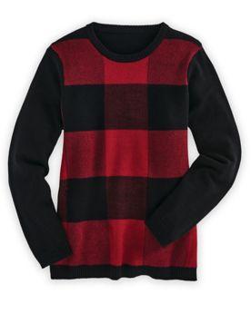 Buffalo Plaid Sweater