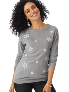 Long-Sleeve Festive Sweater