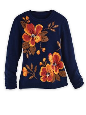 Alfred Dunner® Drama Floral Sweater
