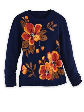 Alfred Dunner® Drama Floral Sweater - Image 2 of 2