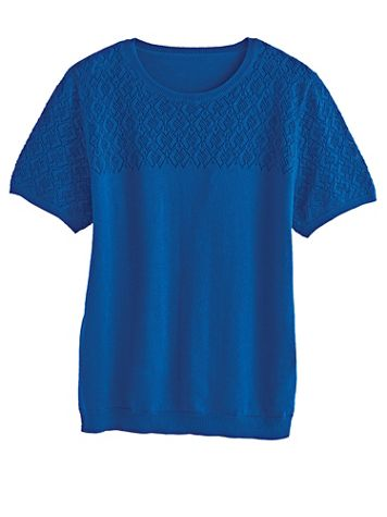 Alfred Dunner® Crewneck Shell Sweater  - Image 1 of 5
