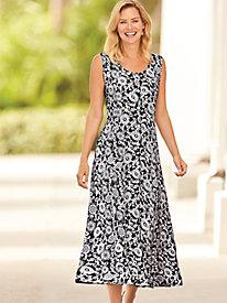 Smocked Back Print Dress by Blair