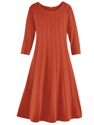 Simple Elegance Three-Quarter Sleeve Dress - Image 3 of 3