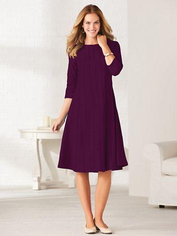 Simple Elegance Three-Quarter Sleeve Dress - Image 1 of 3