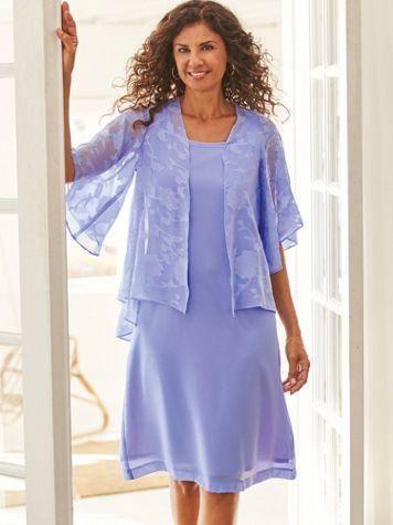 Elisabeth Williams® Burnout Jacket Dress - Image 1 of 3