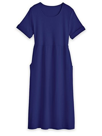 Scoopneck Dress with Pockets - Image 2 of 2