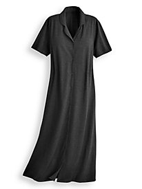 Laurel Knit Button-Front Dress