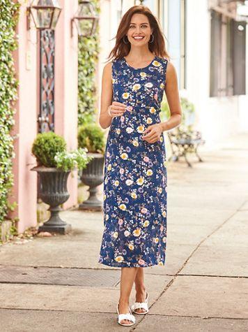Elisabeth Williams® Everblooming Crinkle Dress - Image 1 of 2