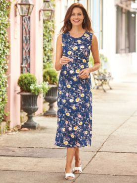 Elisabeth Williams® Everblooming Crinkle Dress