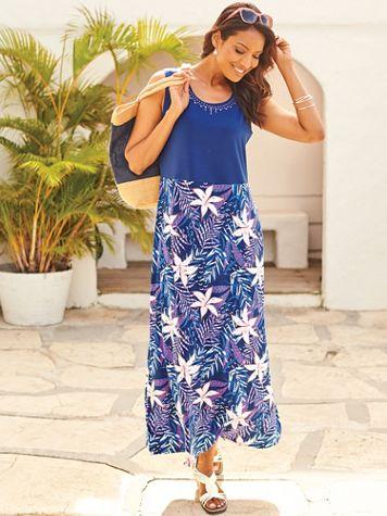 Printed Maxi Dress - Image 3 of 3