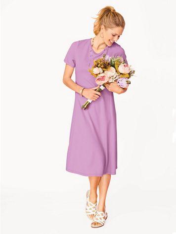 Elisabeth Williams Short-Sleeved Knit Dress - Image 1 of 6
