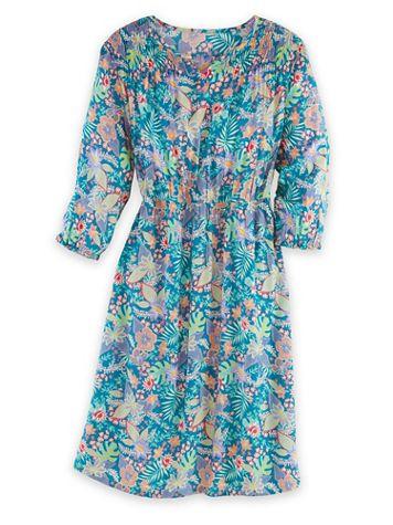 Three-Quarter Sleeve Smocked Dress - Image 2 of 2