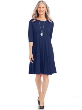 Three-Quarter Sleeve Knit Dress