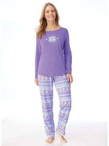 Novelty Knit Pajama Set - Image 1 of 10