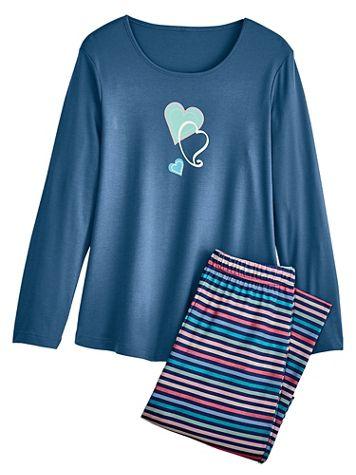 Novelty Knit Pajama Set - Image 1 of 4