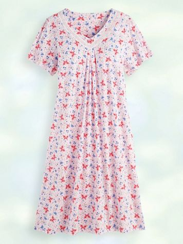 Print Knit Nightgown - Image 1 of 1