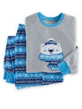 Novelty Appliqué Fleece Pajama Set