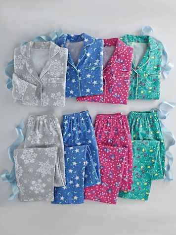 Printed Flannel Pajama Set - Image 1 of 3