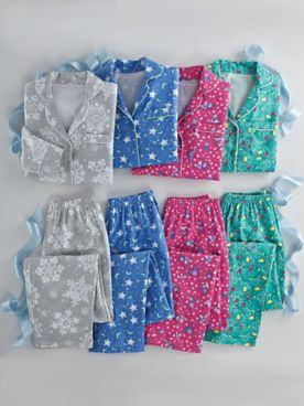 Printed Flannel Pajama Set