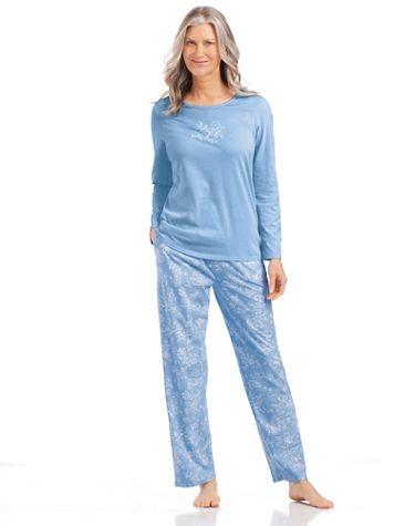 Long Floral-Print Pajamas - Image 1 of 5
