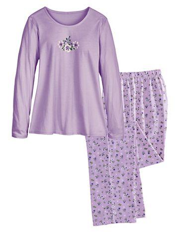 Long Floral-Print Pajamas - Image 1 of 2
