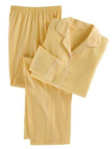 Satin-Trim Pajamas - Image 2 of 3