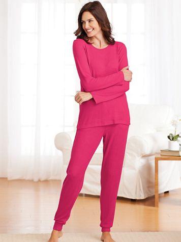 Sweater Knit Pajamas - Image 1 of 4