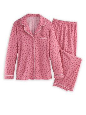 Floral Button-Front Pajamas