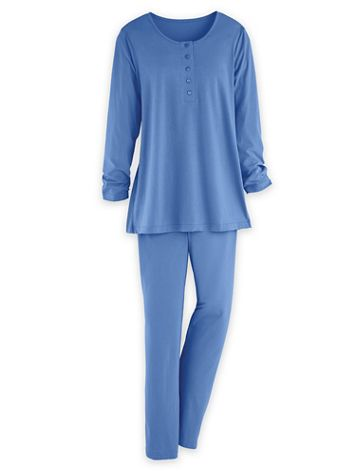 Knit Henley Pajamas - Image 1 of 7
