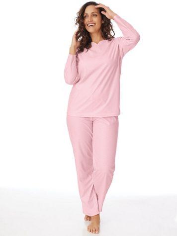 Textured Henley 2-Piece Pajamas Set - Image 1 of 6