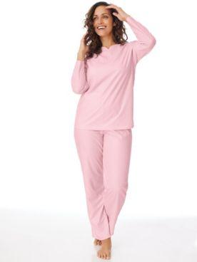 Textured Henley 2-Piece Pajamas Set