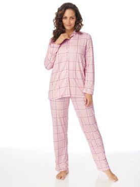 Comfy & Cozy 2-Piece Long Plaid Pajamas Set