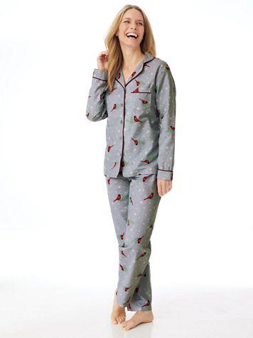 Printed Flannel 2-Piece Long Pajamas - Image 1 of 7