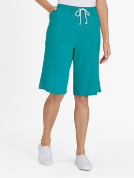 Knit Drawstring Cargo Shorts