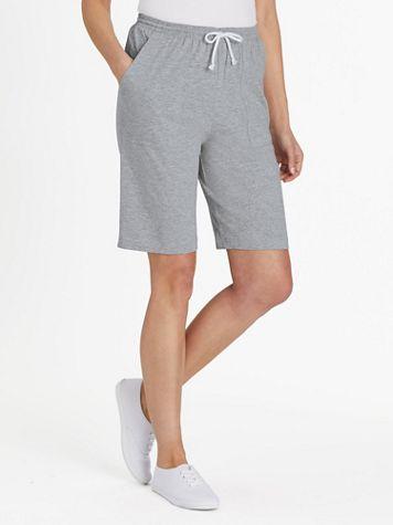 Knit Drawstring Cargo Shorts - Image 3 of 4