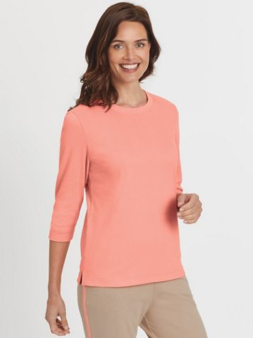 Fresh Three-Quarter Sleeve Top - Image 1 of 9