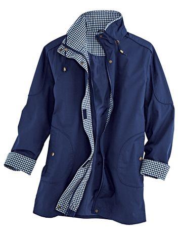 Water-Resistant Gingham Jacket