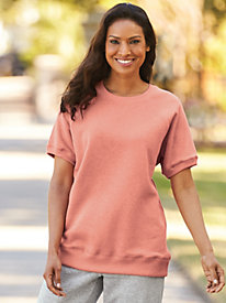 Heathered Short Sleeve Sweatshirt