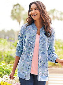 Print Fleece Jacket by Blair